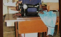 FATIMA ON SEWING MACHINE